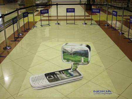 Напольная 3D реклама