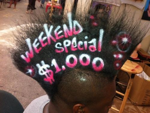 Реклама на волосах. Хороший бизнес или абсурд?