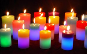 Изготовление свечей с разноцветным пламенем